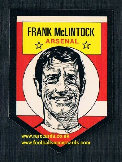 1972 BAB unused Shooting Stars Arsenal Frank McLintock with backing paper